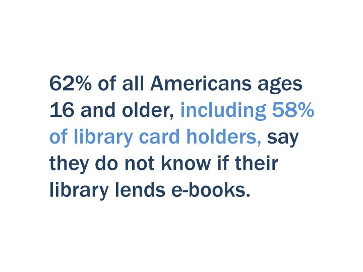 62% of all Americans ages 16 and older,