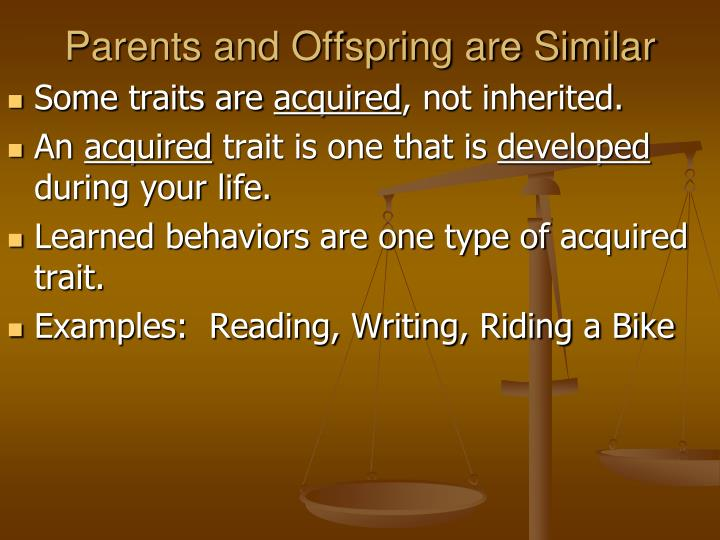 Parents and Offspring are Similar