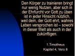 1 timotheus kapitel 4 vers 8
