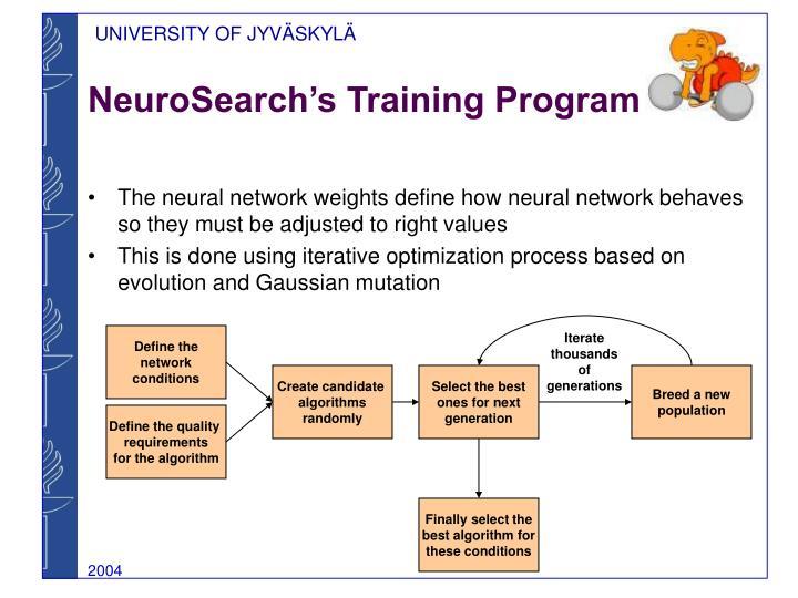 NeuroSearch's Training Program