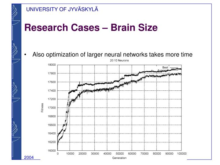 Research Cases – Brain Size
