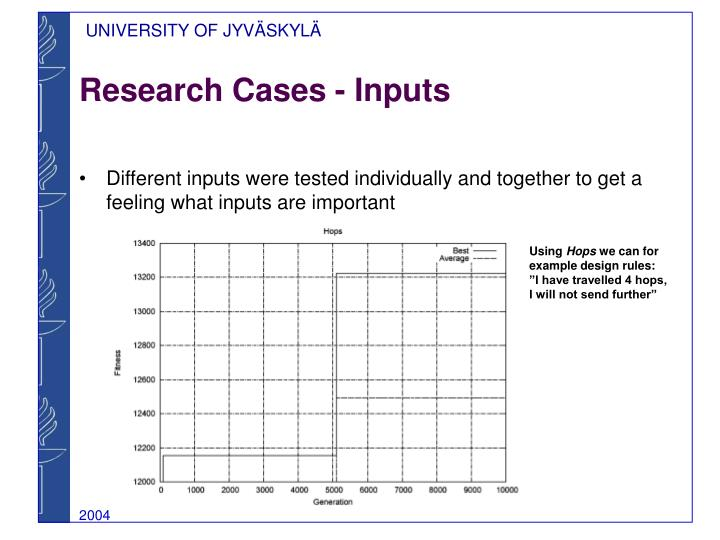 Research Cases - Inputs