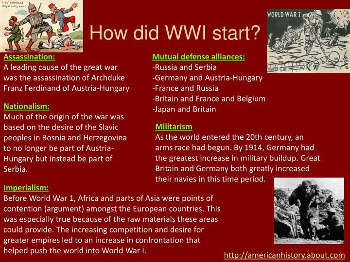 How did wwi start