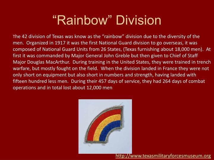 """""""Rainbow"""" Division"""