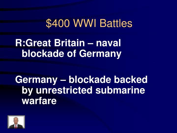 R:Great Britain – naval blockade of Germany