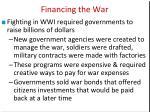 financing the war1