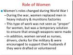 role of women1