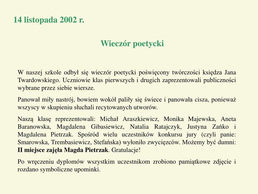 Ppt Kronika Klasy Powerpoint Presentation Free Download