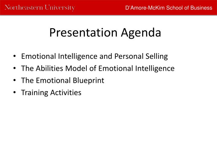 Ppt using the emotional blueprint in personal selling powerpoint damore mckim school of business malvernweather Image collections
