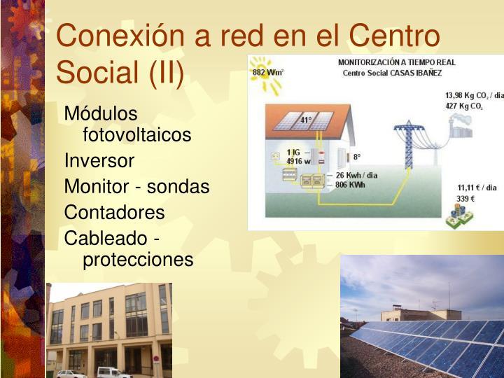 Conexión a red en el Centro Social (II)