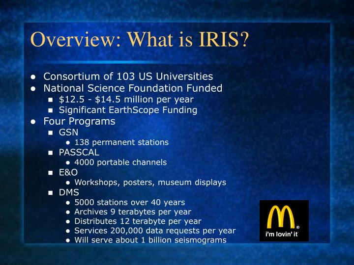 Overview what is iris