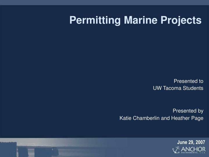 permitting marine projects n.