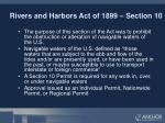 rivers and harbors act of 1899 section 10