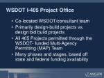 wsdot i 405 project office