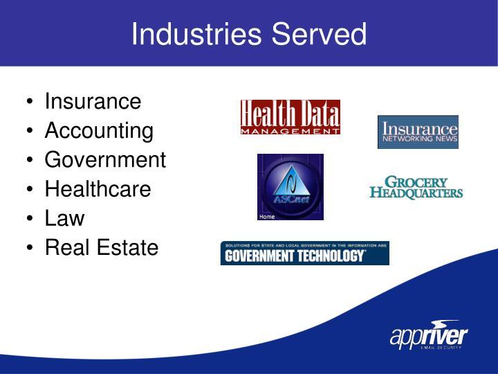 Industries Served