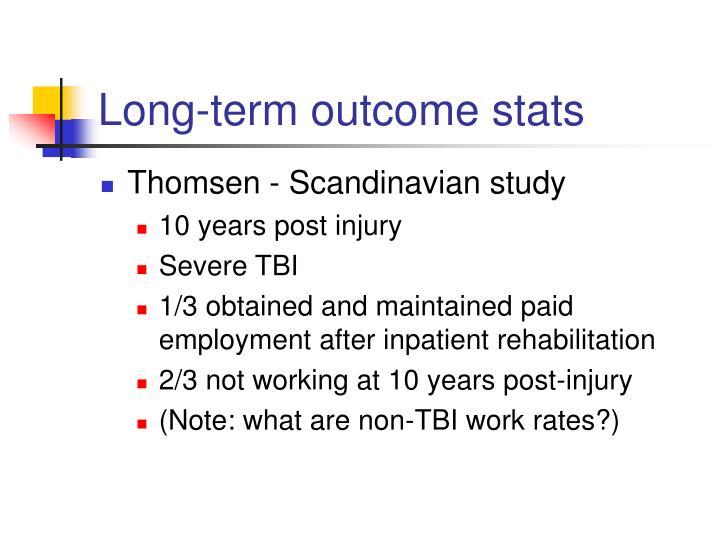 Long-term outcome stats