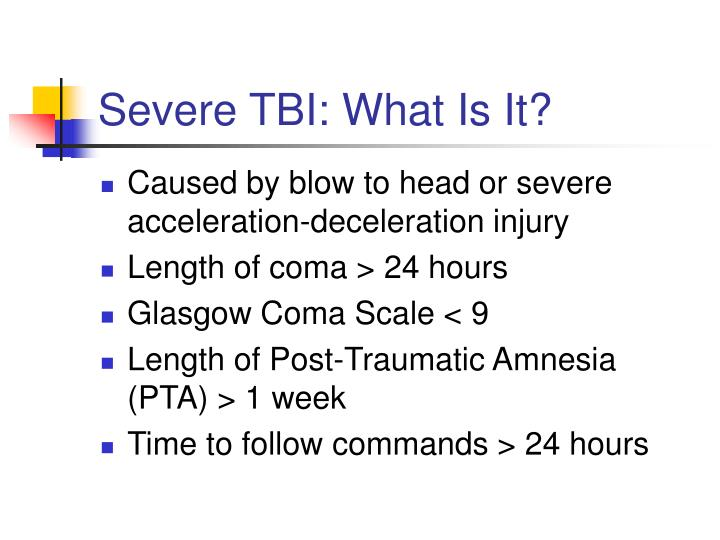 Severe tbi what is it