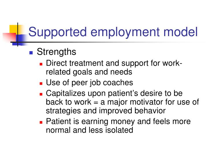 Supported employment model