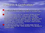 standards certification