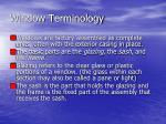window terminology