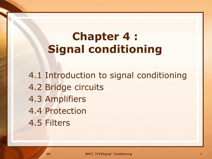 chapter 4 signal conditioning n.