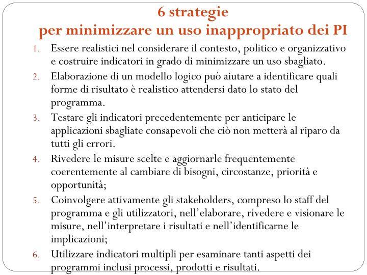 6 strategie