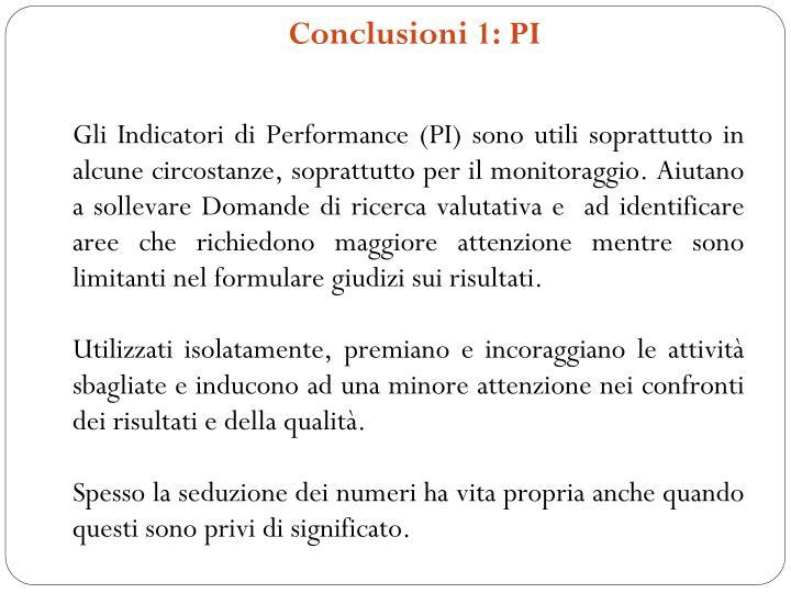 Conclusioni 1: PI