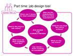 part time job design tool
