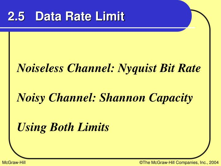 2.5   Data Rate Limit