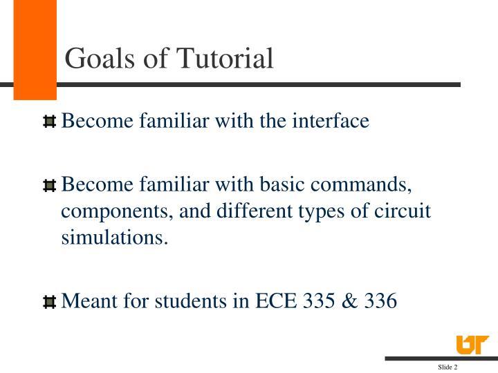Goals of tutorial