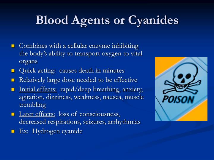 Blood Agents or Cyanides