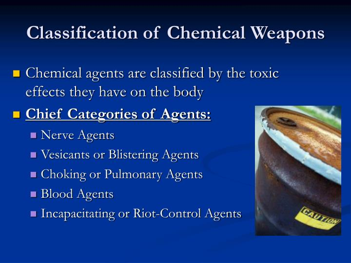 Classification of Chemical Weapons
