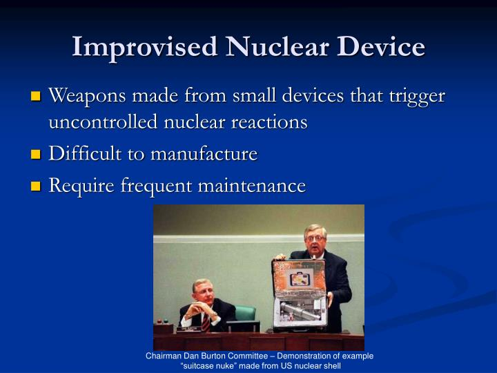 Improvised Nuclear Device