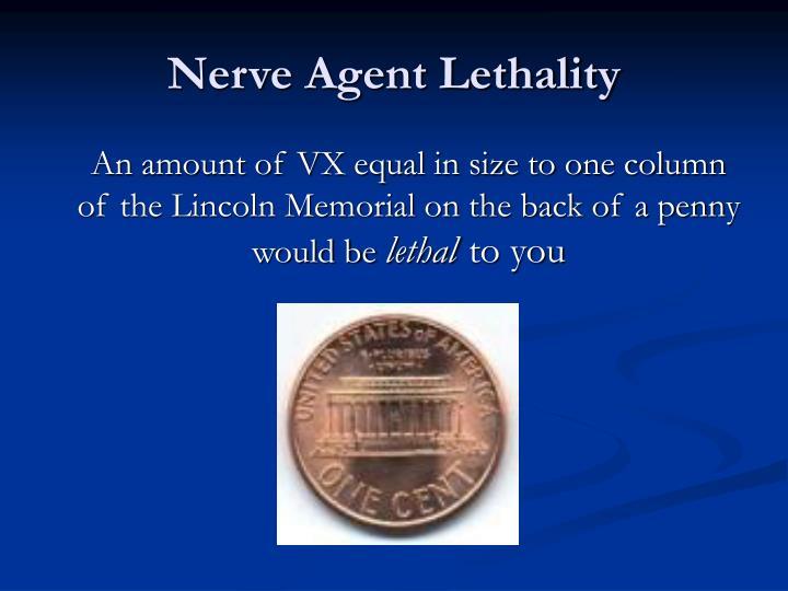 Nerve Agent Lethality