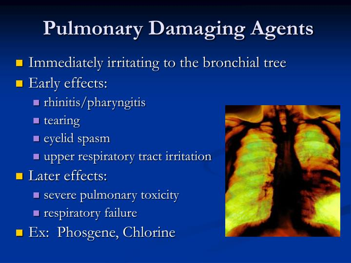 Pulmonary Damaging Agents