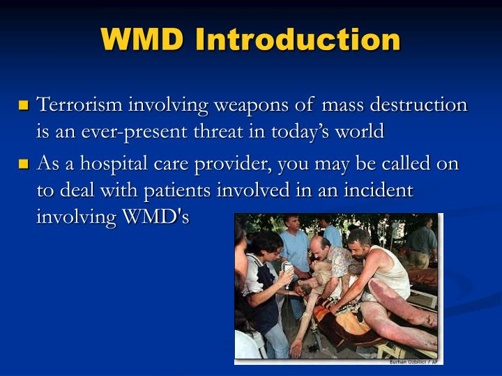 WMD Introduction