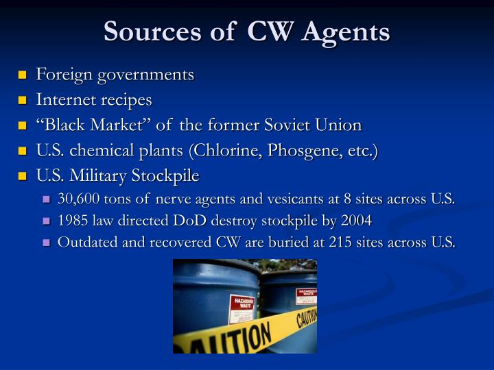 Sources of CW Agents