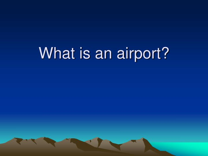 what is an airport n.