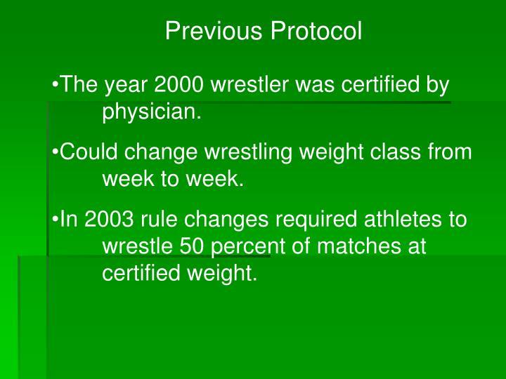 Previous Protocol