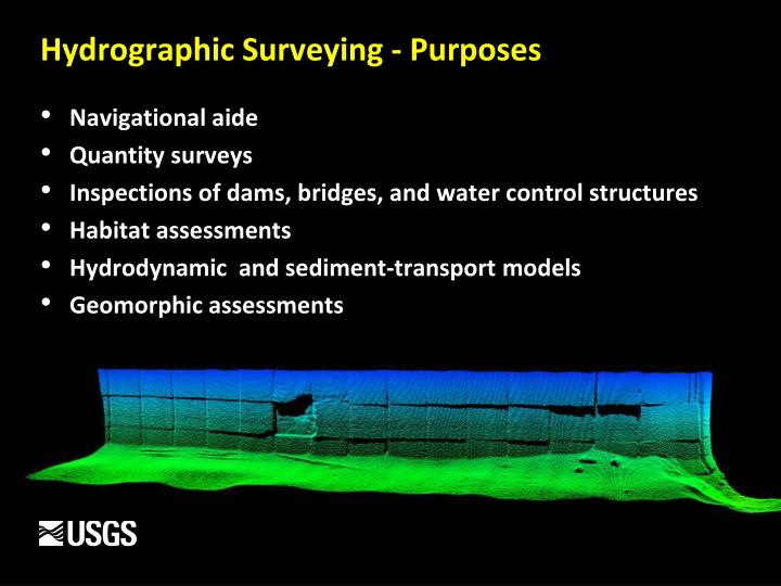 Hydrographic surveying purposes