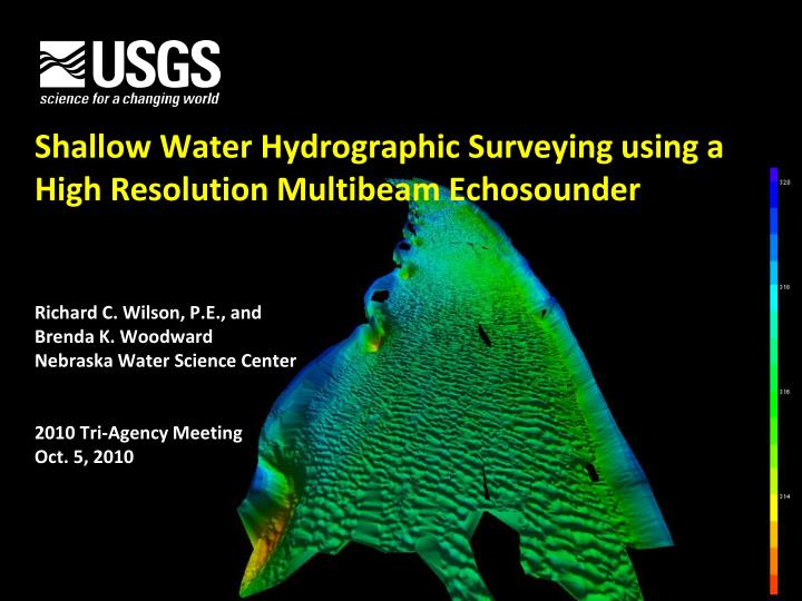 Shallow water hydrographic surveying using a high resolution multibeam echosounder