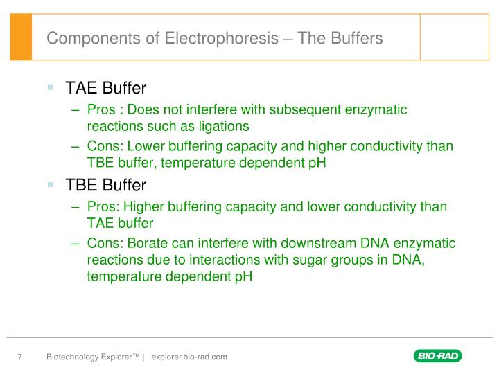 Components of Electrophoresis – The Buffers