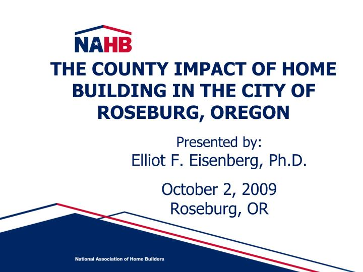 The county impact of home building in the city of roseburg oregon