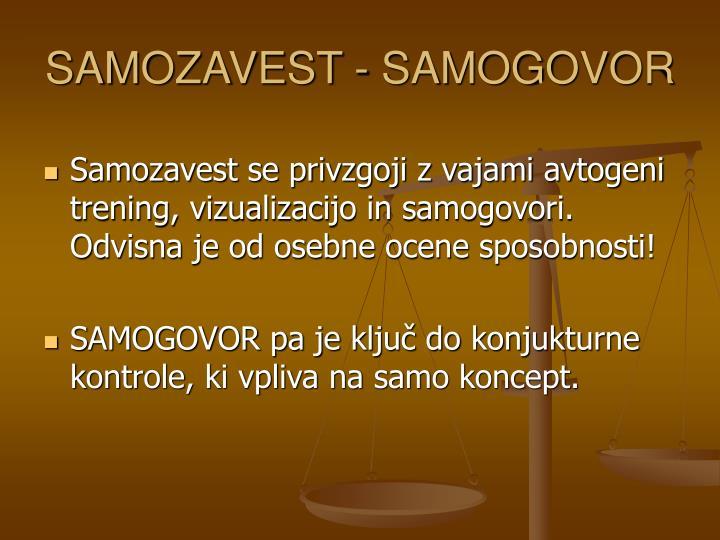 SAMOZAVEST - SAMOGOVOR