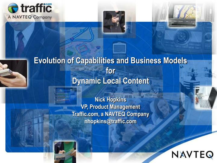 Evolution of Capabilities and Business Models