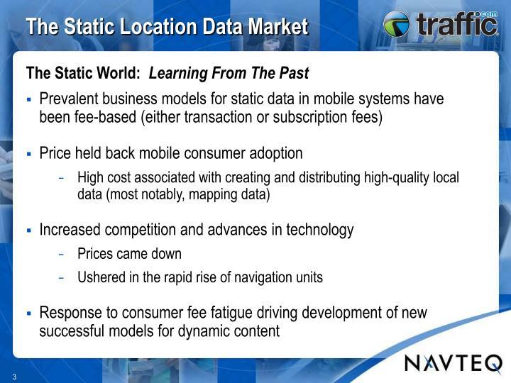 The static location data market