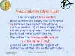 predictability dynamics1