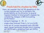 predictability studies by nns1