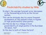 predictability studies by nns4