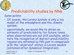 predictability studies by nns5